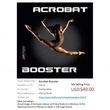 WTS – MT4 EA Title: Acrobat Booster